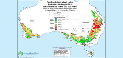 Predicted crop yield maps: August 2019