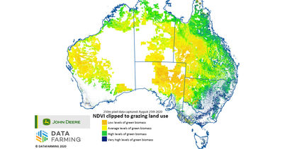 Pasture insights provided from grazing-specific green biomass maps