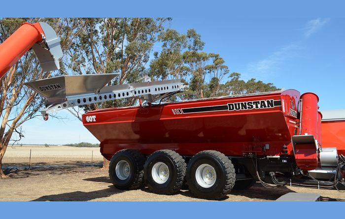 New Dunstan 60t bin made for Controlled Traffic Farming