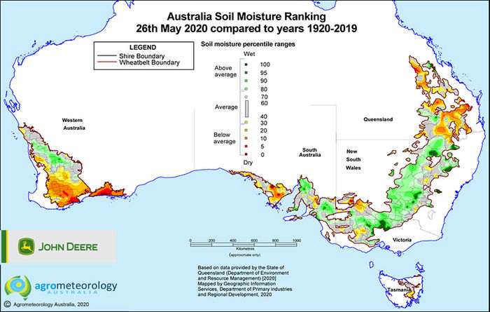 National soil moisture maps: May 2020