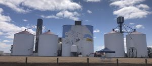 Silo art taking shape at Colbinabbin