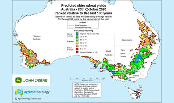 Yield prediction map: October 2020