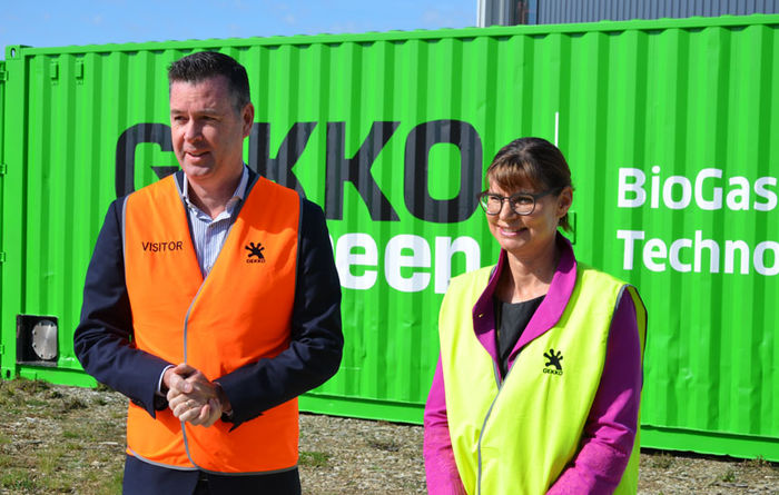 Gekko turns from gold to biogas