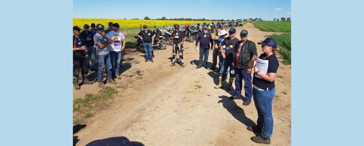 Two-wheeled tour draws interstate interest