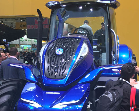 Methane powered New Holland tractor fuels interest