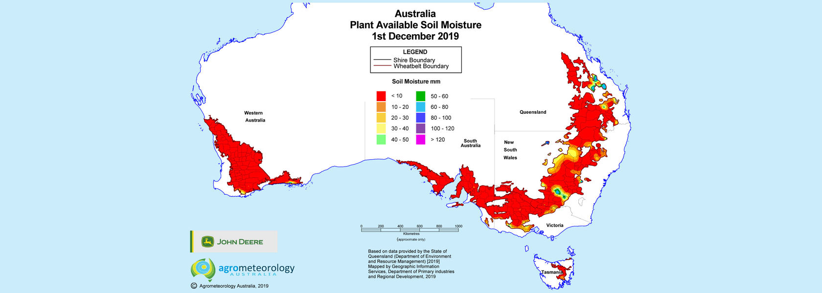 National soil moisture maps: December 2019 - farmingahead.com.au
