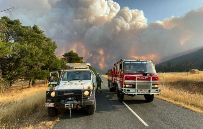 Fire threat for farms and livestock