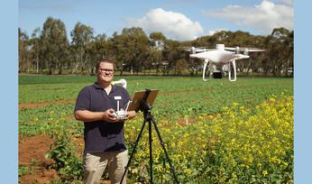 Latest drone tech used for crop pest management