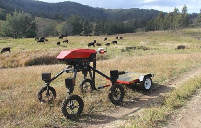 A prototype robot has been busy on Aussie farms