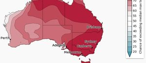 Predicted dry conditions extended across mainland Australia