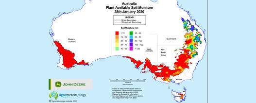 National soil moisture maps: January 2020