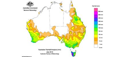 Dry July sees very little rainfall in New South Wales