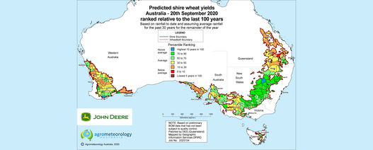 Yield prediction map: September 2020