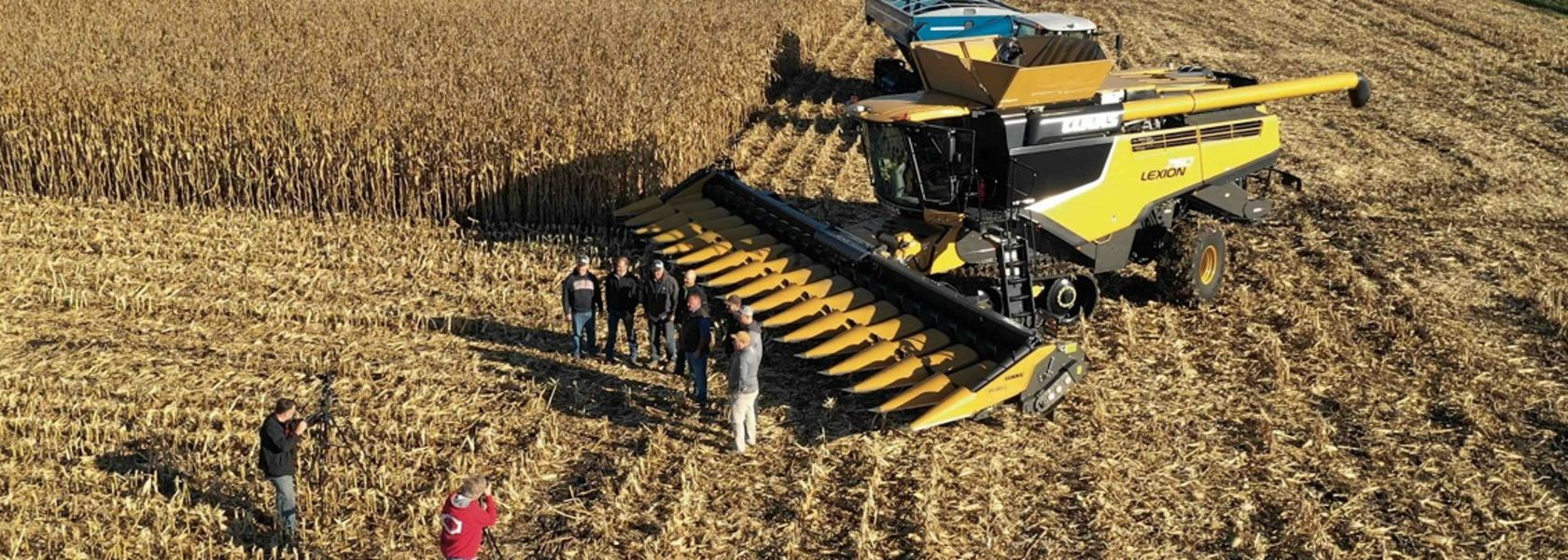 Maize harvest record broken by Lexion