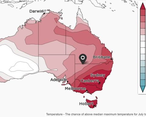Fewer cold fronts predicted for the next three months