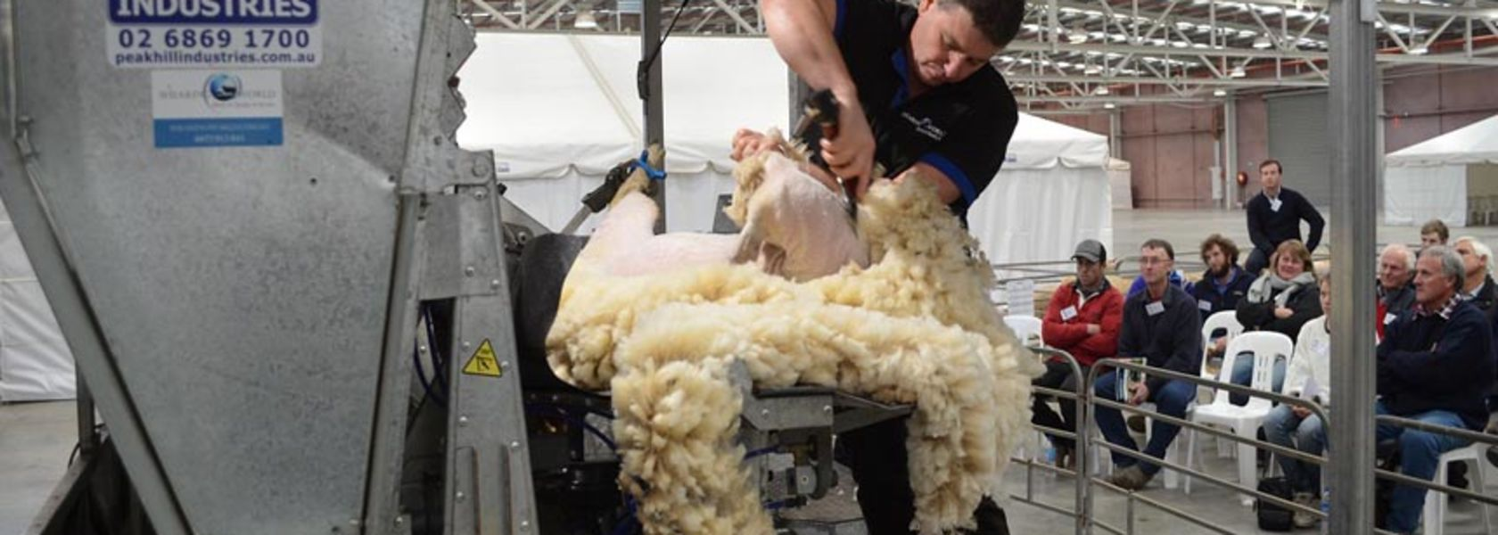 Shearing without bending over