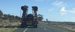 Large agricultural vehicles are relatively low risk