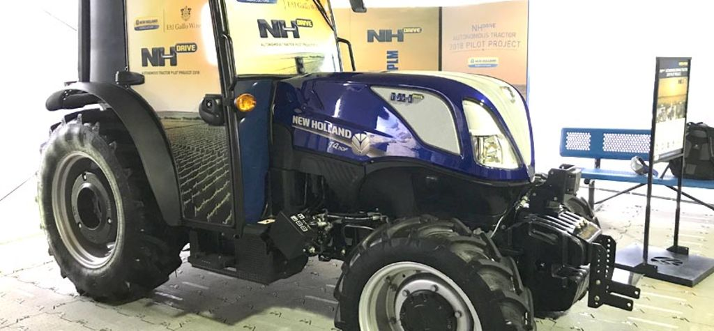 New Holland starts field work for autonomous tractors