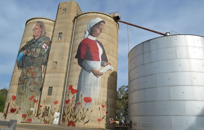 Service commemorated with silo art