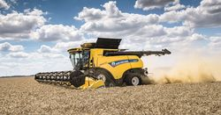 New Holland harvester cracks 700 ponies